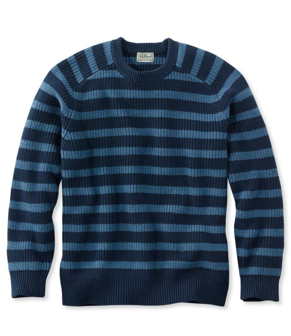 Blue Jean Sweater, Crewneck Stripe