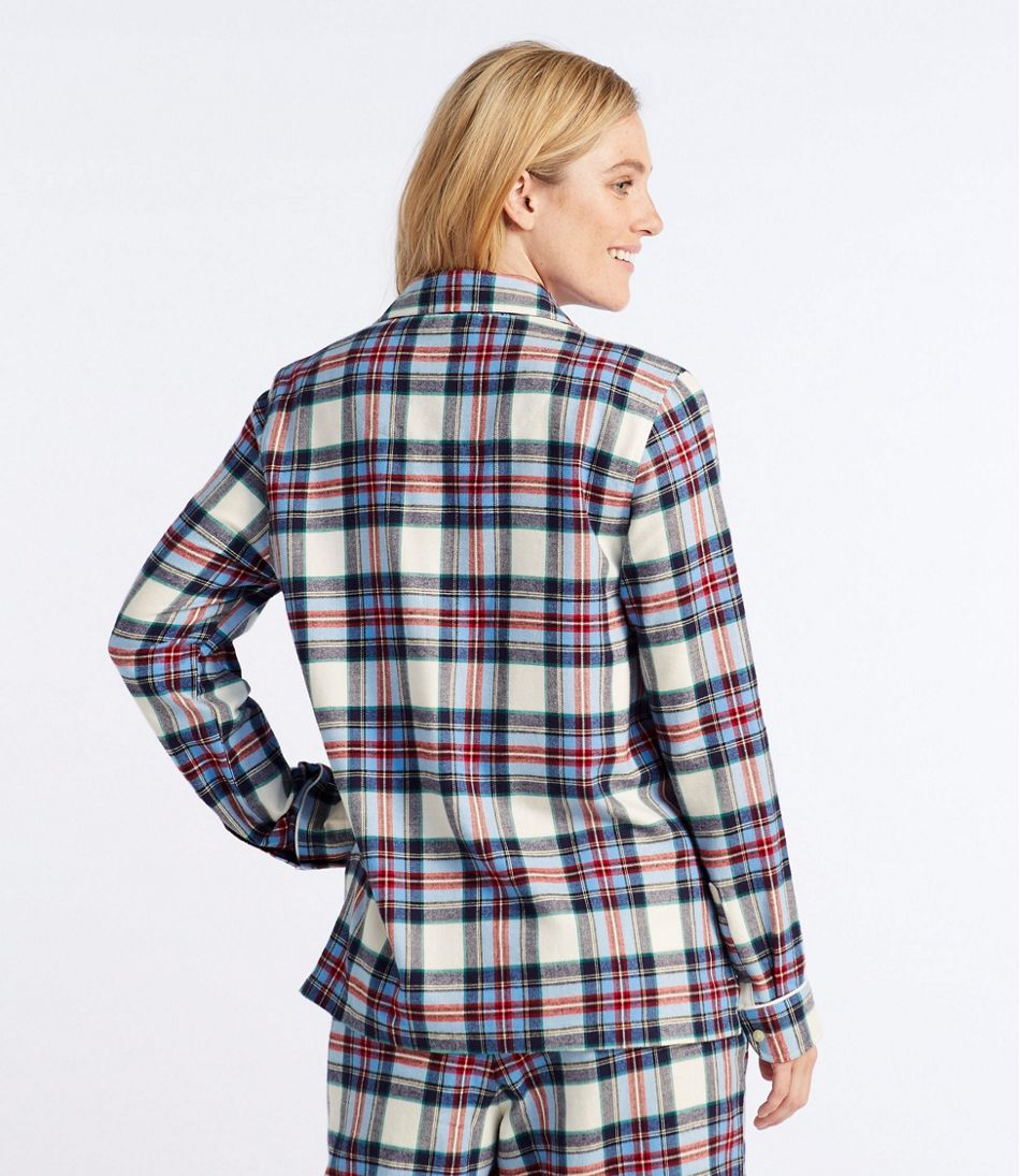 L.L.Bean Flannel Pajama Top, Plaid