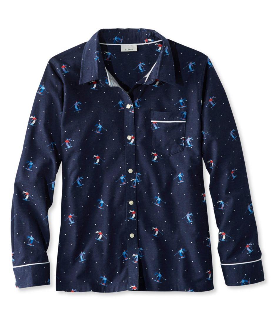 L.L.Bean Flannel Pajama Top, Print