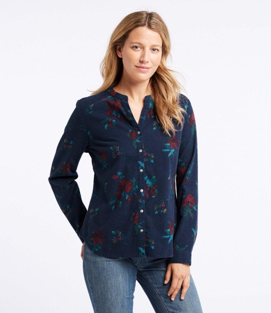 Splitneck Flannel Shirt, Print
