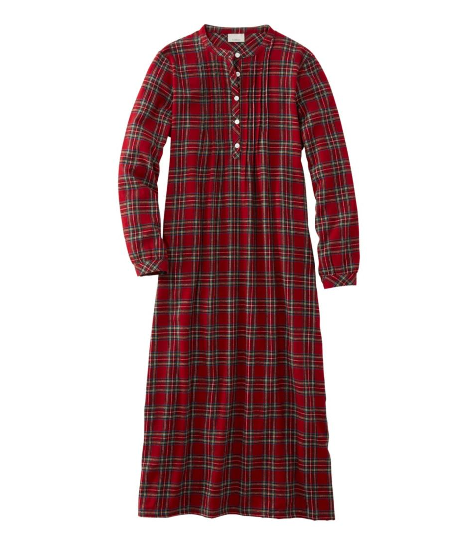Scotch Plaid Flannel Nightgown