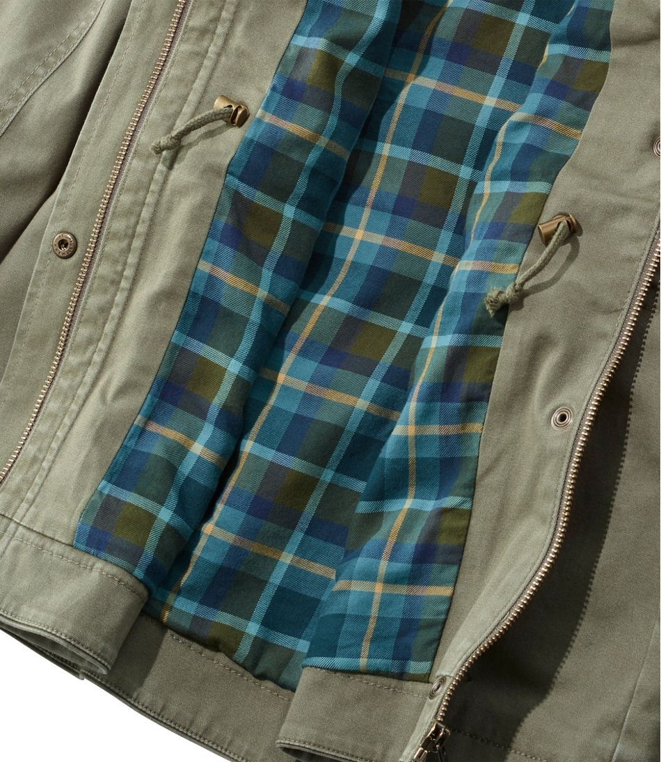 Women's Classic Utility Jacket, Flannel-Lined