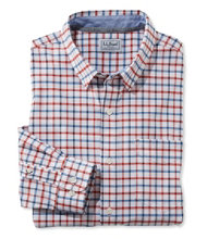 Men'a L.L.Bean Stretch Oxford Shirt, Slightly Fitted Check