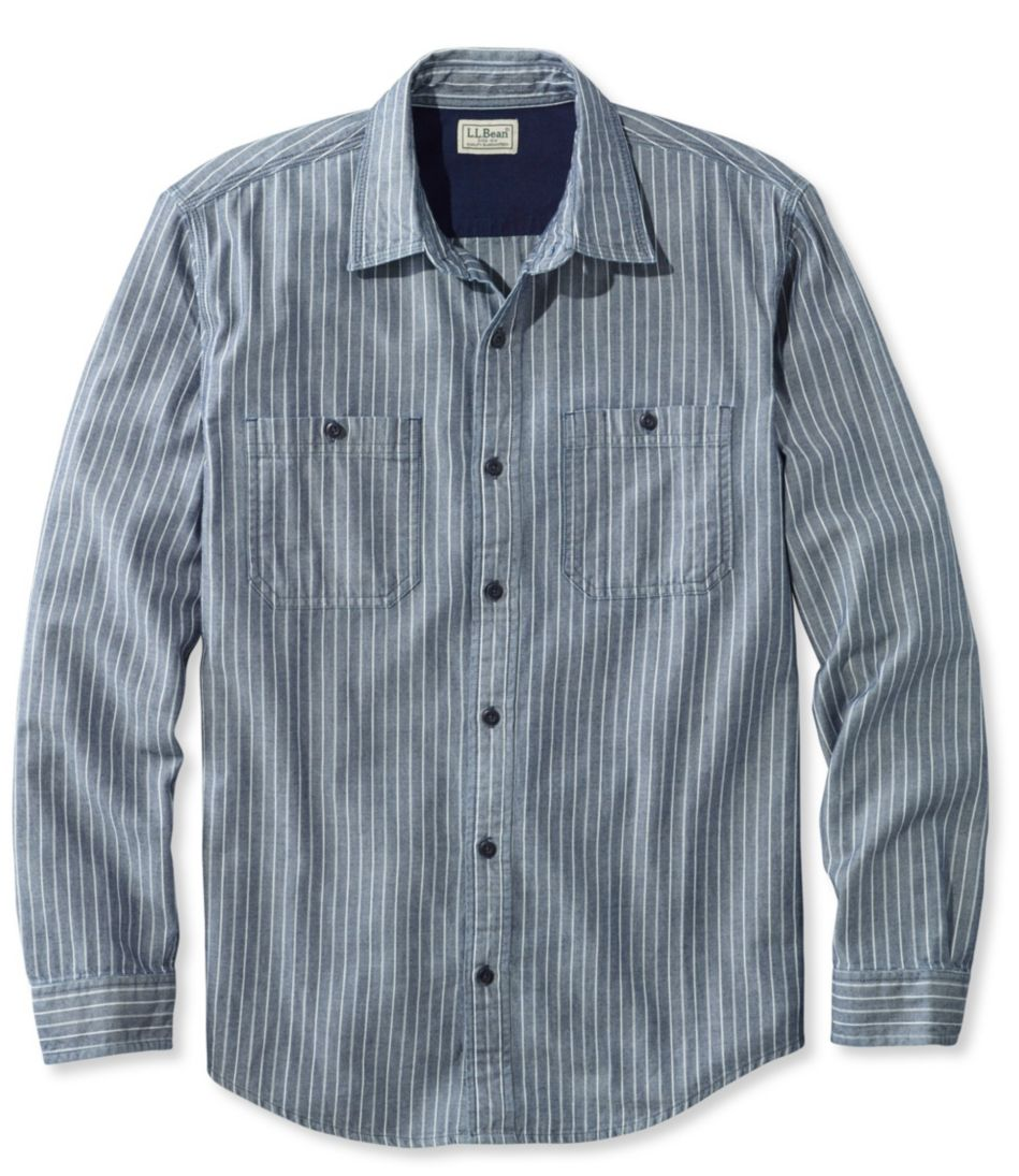 Indigo Denim Shirt, Slightly Fitted Stripe