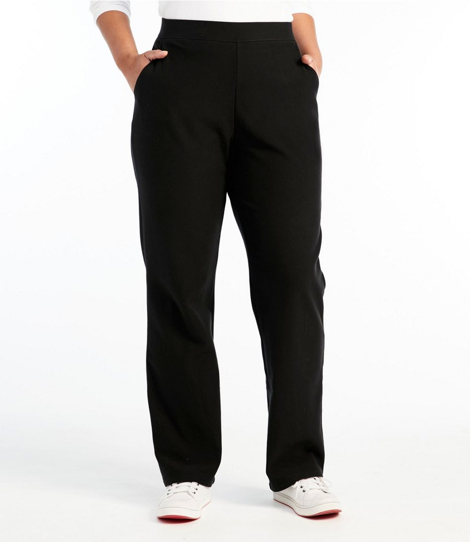 Women's Perfect Fit Pants, Fleece-Backed Straight-Leg