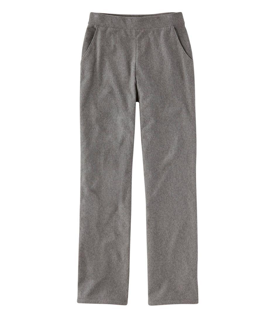 Perfect Fit Pants, Fleece-Backed Straight-Leg