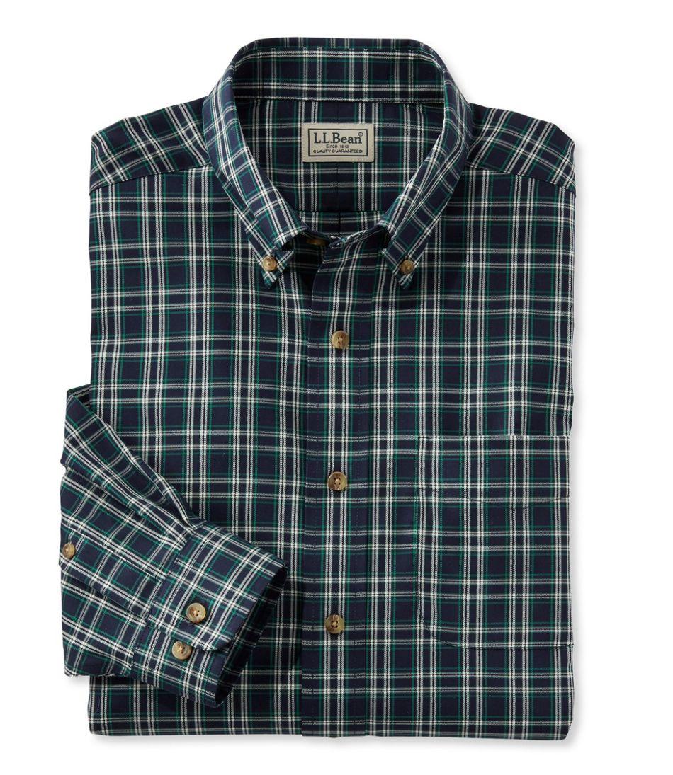 Wrinkle-Free Twill Sport Shirt, Traditional Fit Plaid