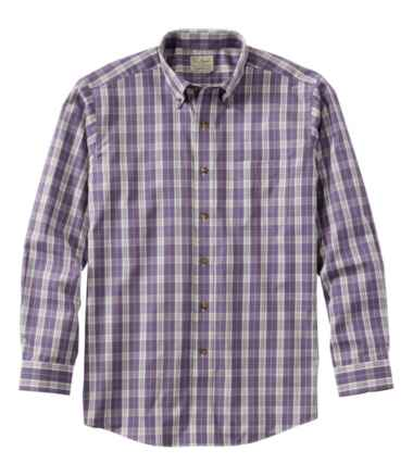 Men's Wrinkle-Free Twill Sport Shirt, Traditional Fit Plaid