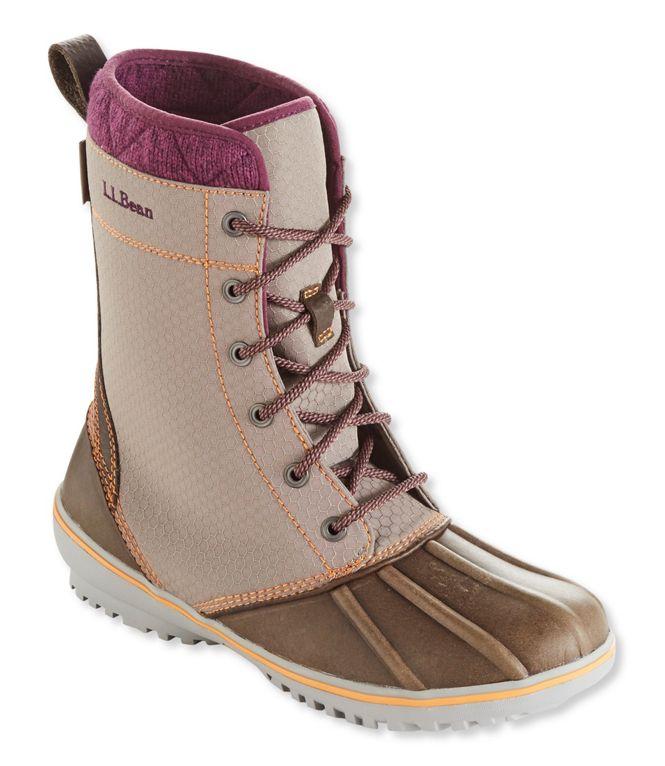 L.L.Bean Nylon Mid Bar Harbor Boots (Dark Cement)