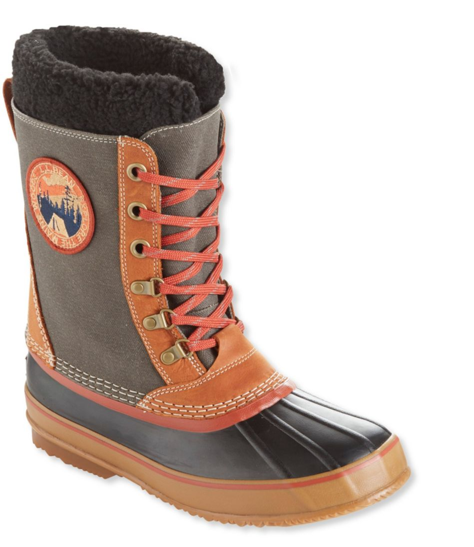 L.L.Bean Snow Boots with Patch, Canvas Lace-Up