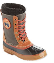 Men's L.L.Bean Snow Boots with Patch, Canvas Lace-Up