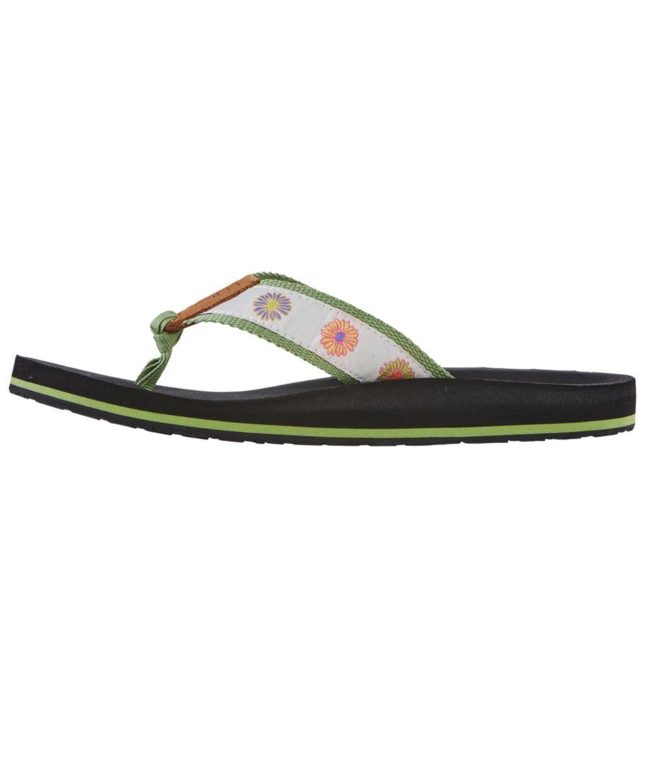 Women's Maine Isle Flip-Flops, Motif