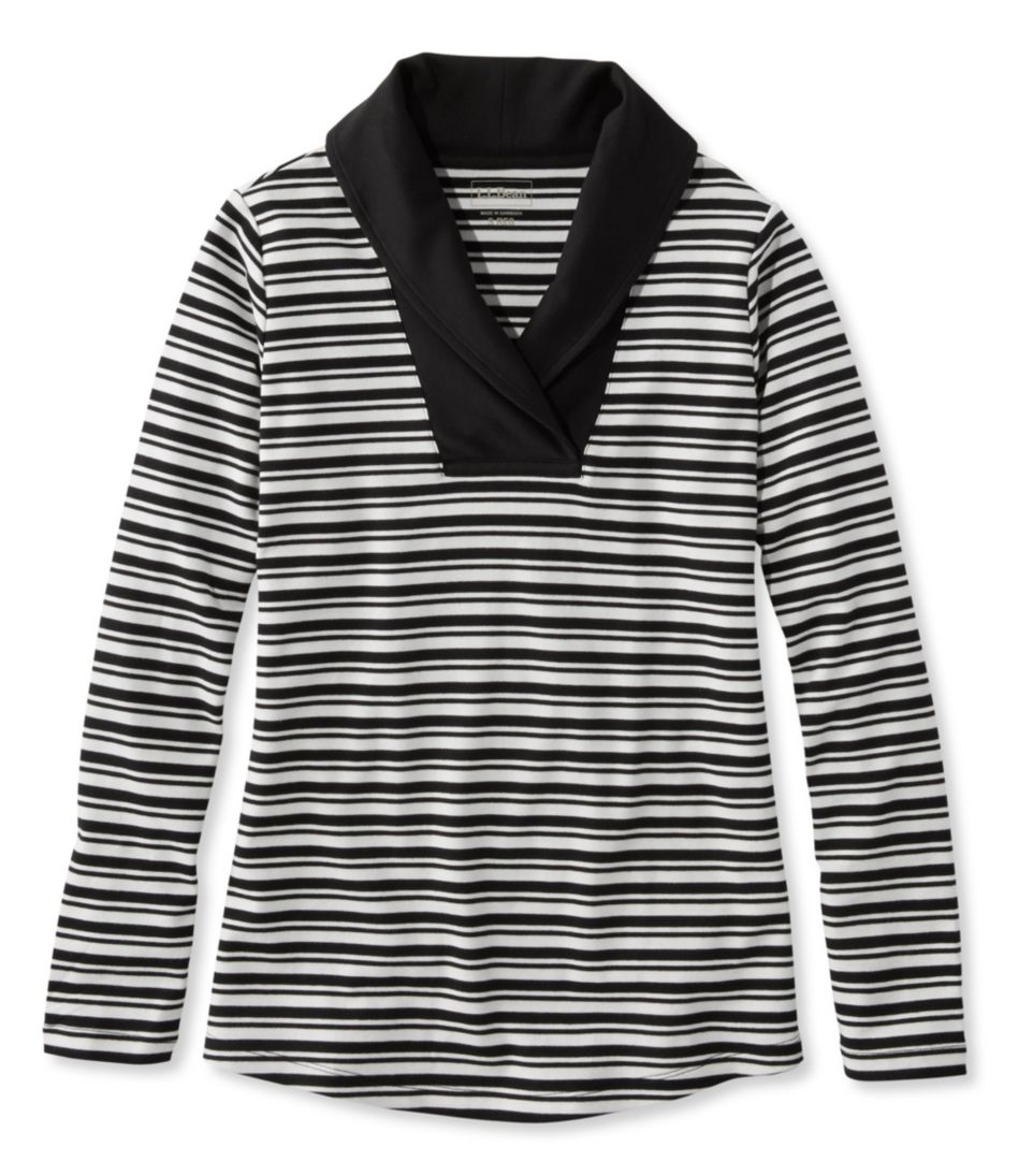 L.L.Bean Shawl-Collar Pullover, Stripe