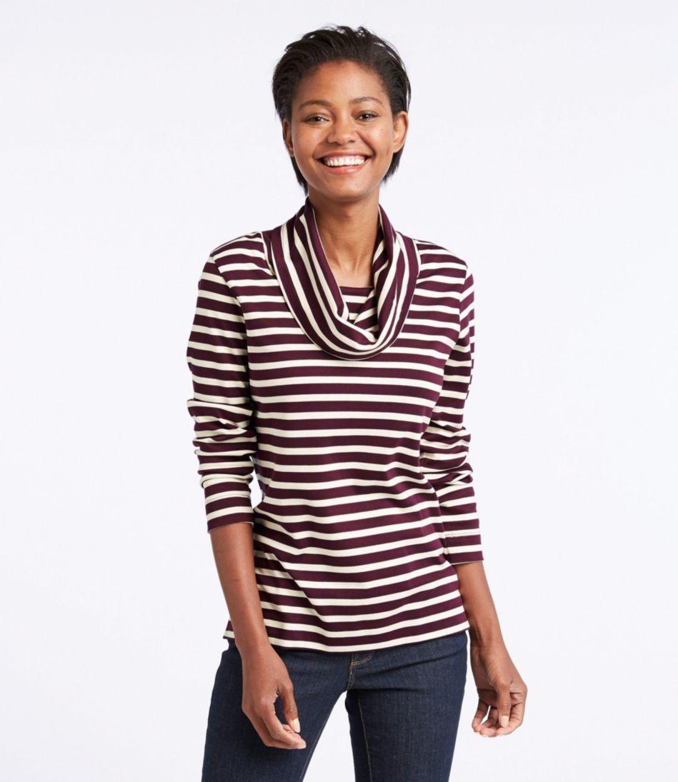 Pima Cowlneck Tunic, Stripe
