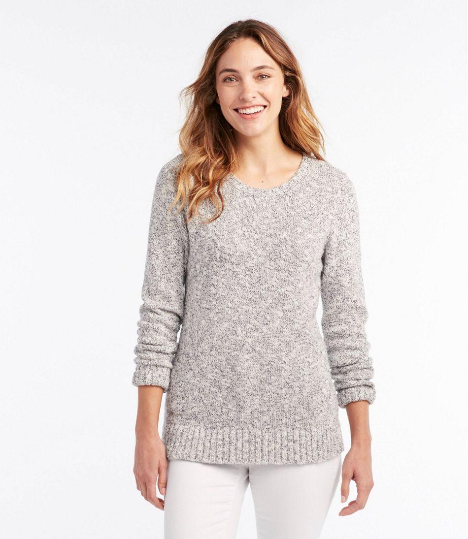 Women's Cotton Ragg Sweater, Marled