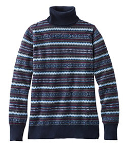 Cotton/Cashmere Sweater, Fair Isle Turtleneck