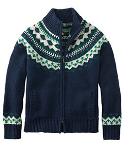 Women's L.L.Bean Classic Ragg Wool Sweater, Fair Isle Cardigan
