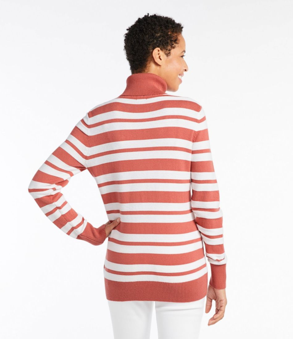 Cotton/Cashmere Sweater, Turtleneck Stripe