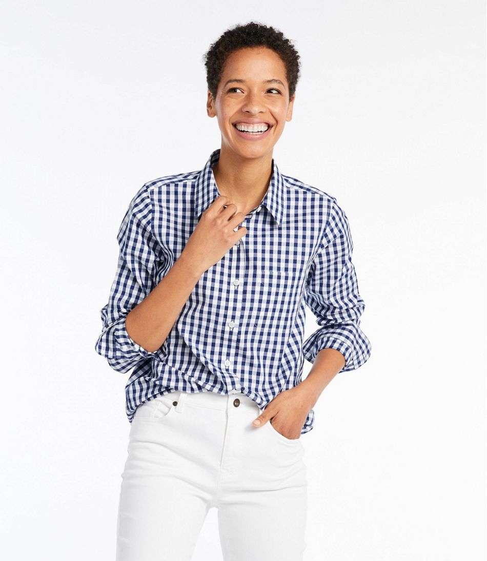 ea0201c2c ... Wrinkle-Free Pinpoint Oxford Shirt, Long-Sleeve Relaxed Fit Plaid ...
