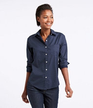 Wrinkle-Free Pinpoint Oxford Shirt, Long-Sleeve Relaxed Fit Bird's-Eye