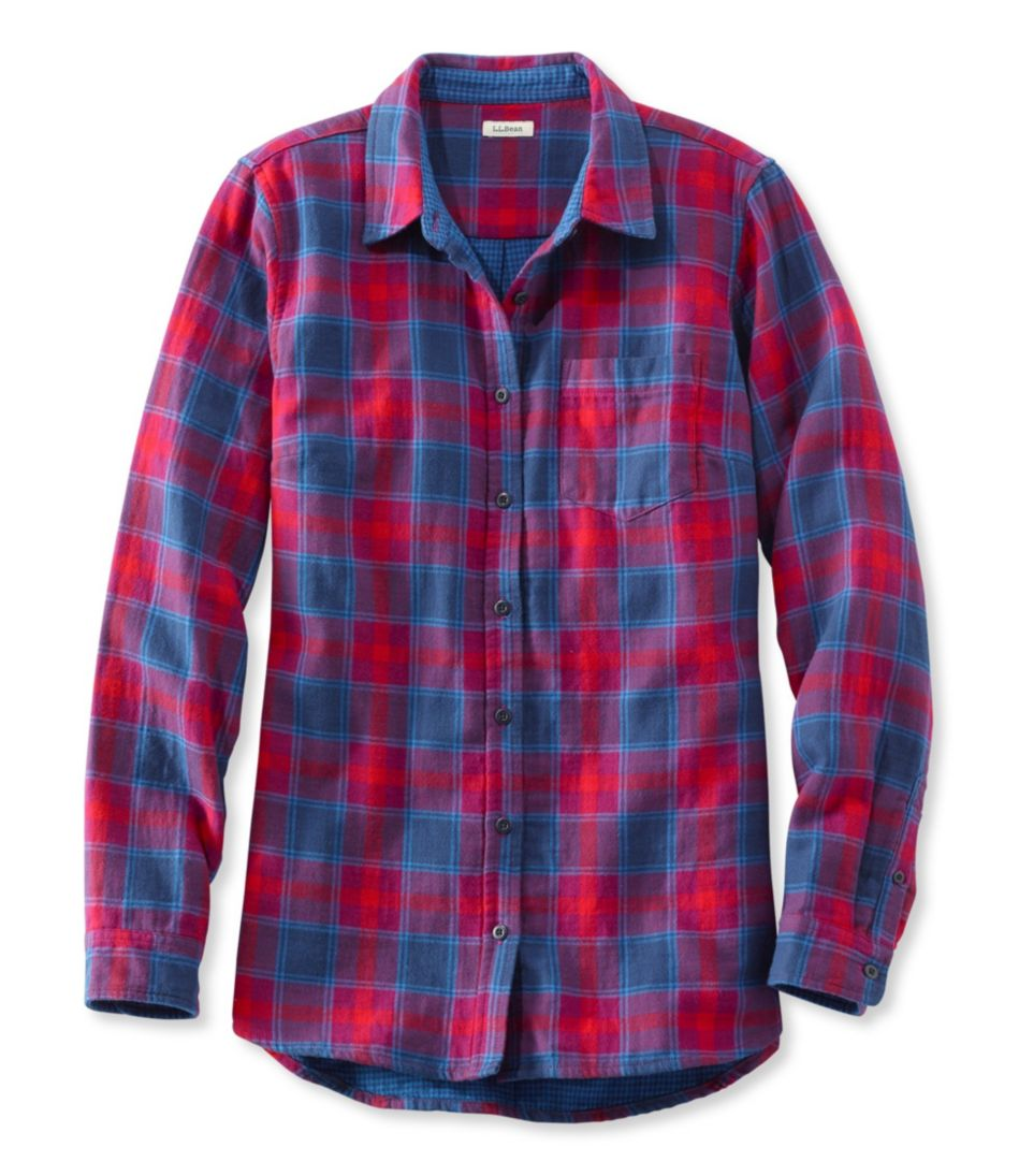 Double-Cloth Flannel Tunic, Plaid