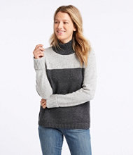 Donegal Sweater, Stand-Up Mock-Neck Colorblock
