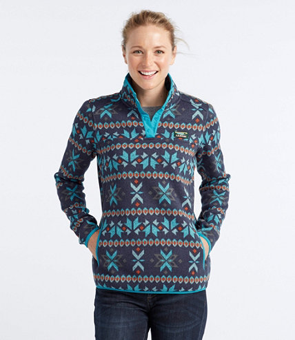 Sweater Fleece Pullover, Misses' Fair Isle Print | Free Shipping ...