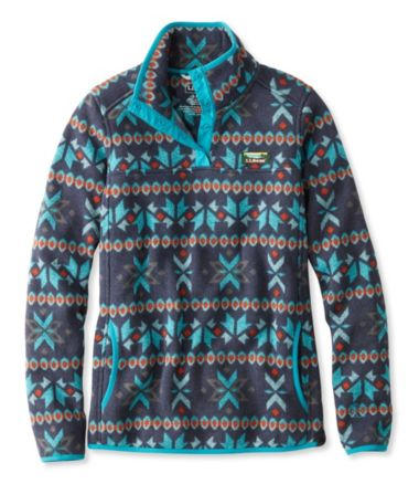 Misses' L.L.Bean Sweater Fleece Pullover, Fair Isle Print