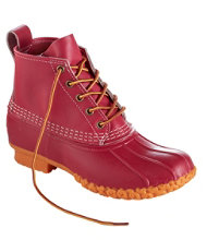 "Women's Small Batch 6"" L.L.Bean Boots, Cherry/Cherry/Guide Orange"