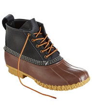 "Men's 6"" Small Batch Tumbled-Leather L.L.Bean Boots, Black/Dark Cocoa/Gum"