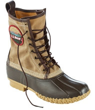 Men's Katahdin Patch Waxed-Canvas L.L.Bean Boots, 10""