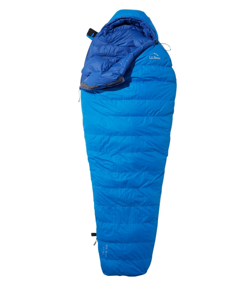 Adults' L.L.Bean Down Sleeping Bag with DownTek, Mummy 0°