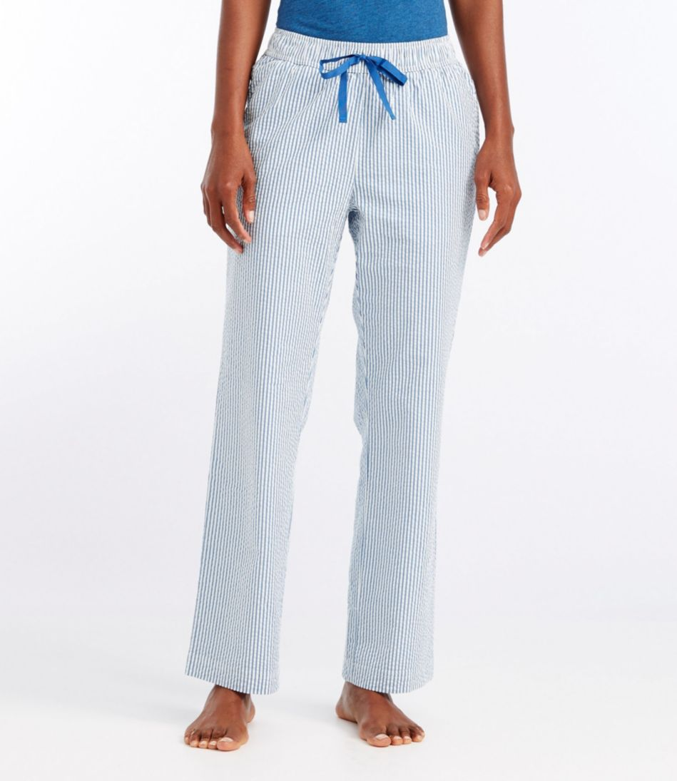 Cotton Sleep Pants, Seersucker Stripe