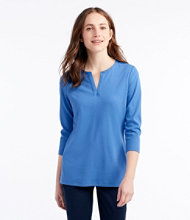 L.L.Bean Tee, Three-Quarter-Sleeve Splitneck Tunic