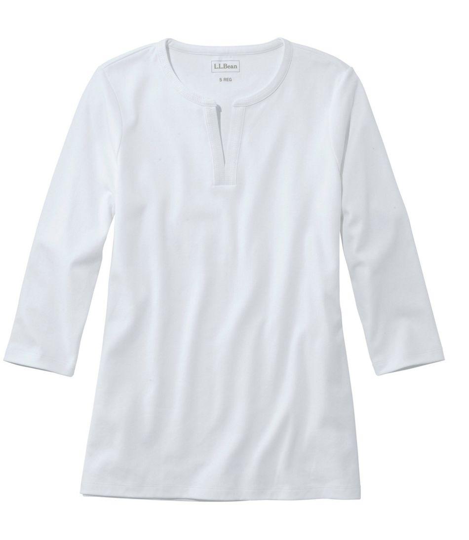 L.L.Bean Tee, Three-Quarter-Sleeve Splitneck Tunic