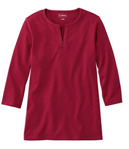 Women's L.L.Bean Tee, Three-Quarter-Sleeve Splitneck Tunic
