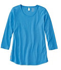 Pima Three-Quarter Sleeve Side-Button Tunic