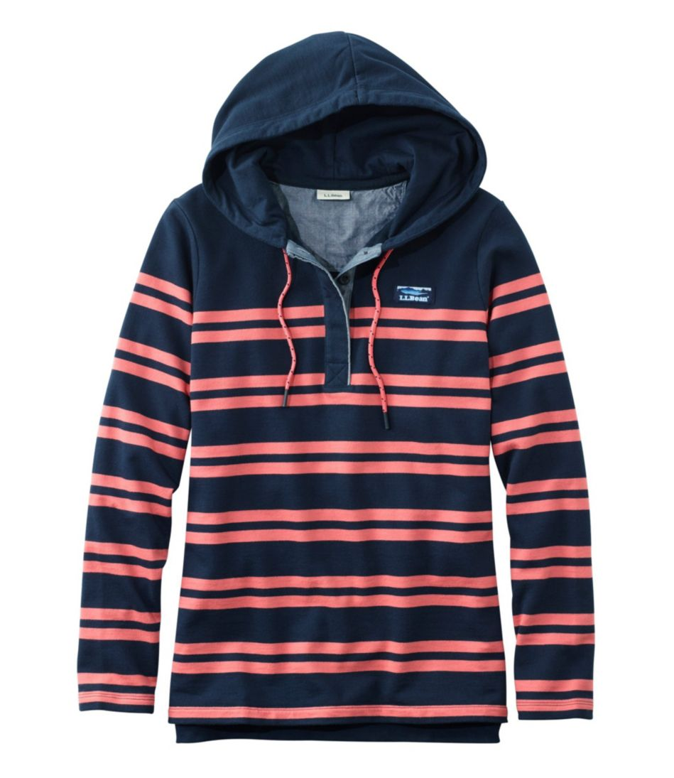 Soft Cotton Rugby, Hoodie Pullover Stripe by L.L.Bean