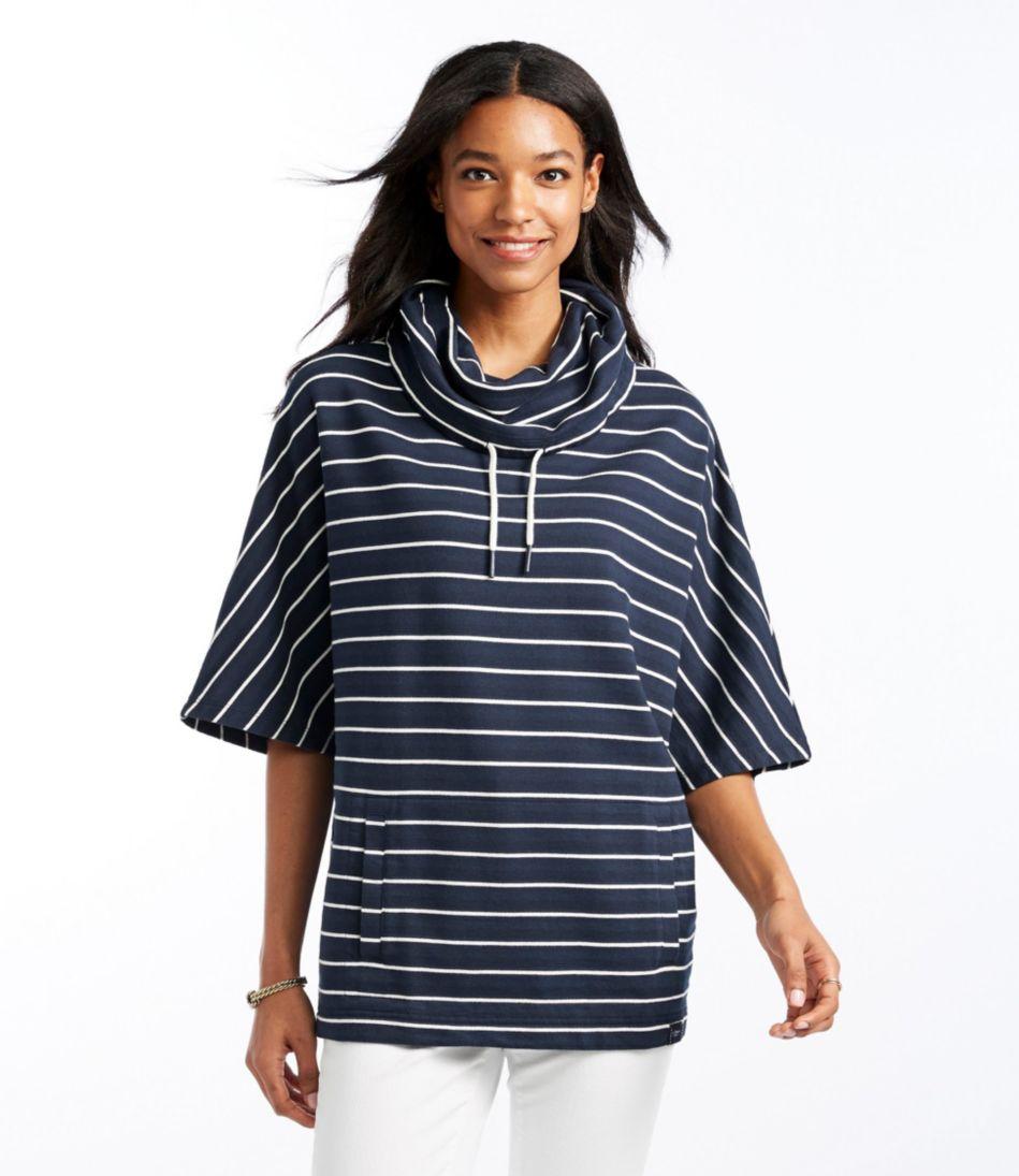 Sweatshirt Poncho, Stripe