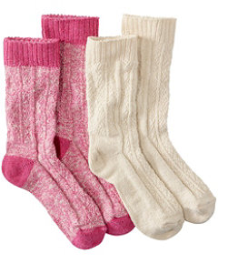 Cotton Ragg Lightweight Crew Sock, Two-Pack