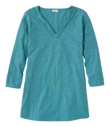 Women's Braided Splitneck Tunic