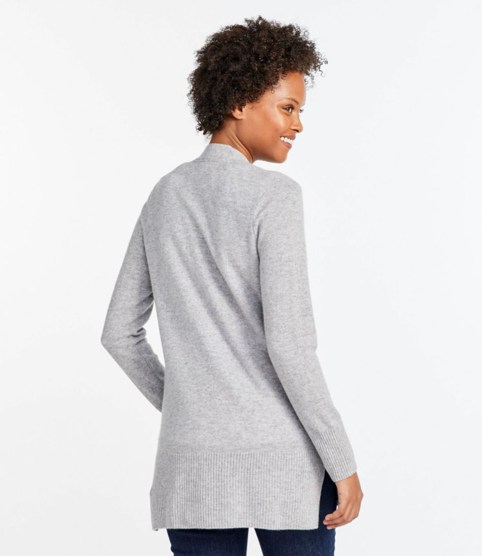 Classic Cashmere Open Cardigan with Pocket