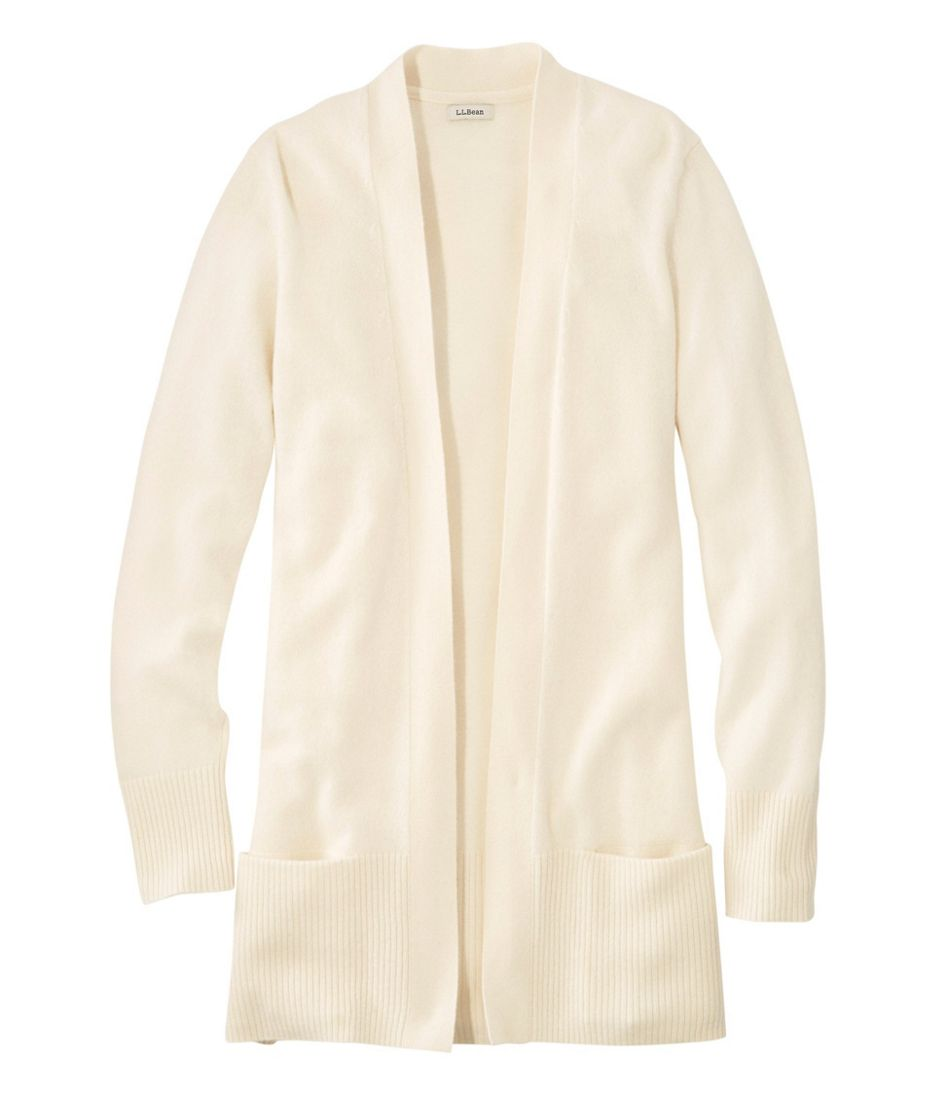 Women's Classic Cashmere Open Cardigan with Pocket