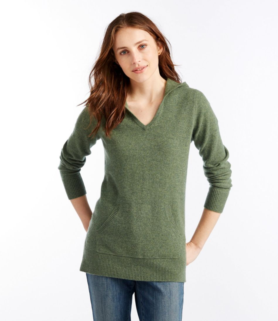 Womens Classic Cashmere Sweater Pullover Hoodie