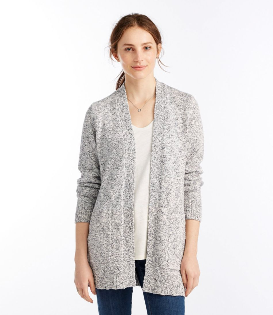 Cotton Ragg Sweater, Open Cardigan