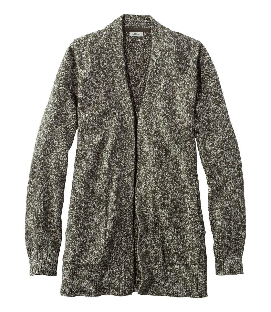 Cotton Ragg Sweater, Open Cardigan