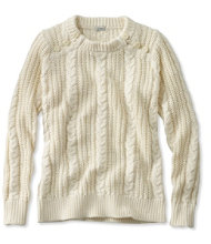 Women's Rope-Stitch Shaker Sweater, Crewneck