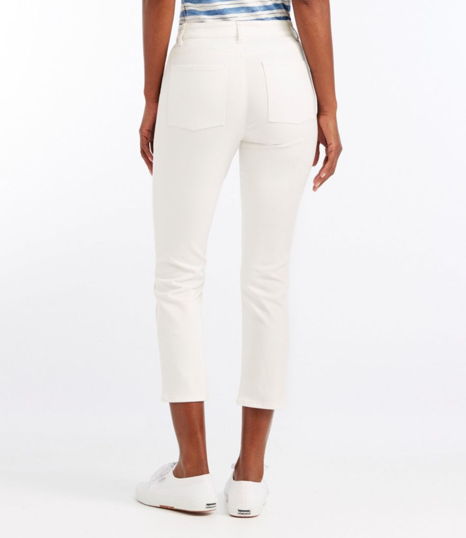 True Shape Twill Cropped Pants, Classic Fit