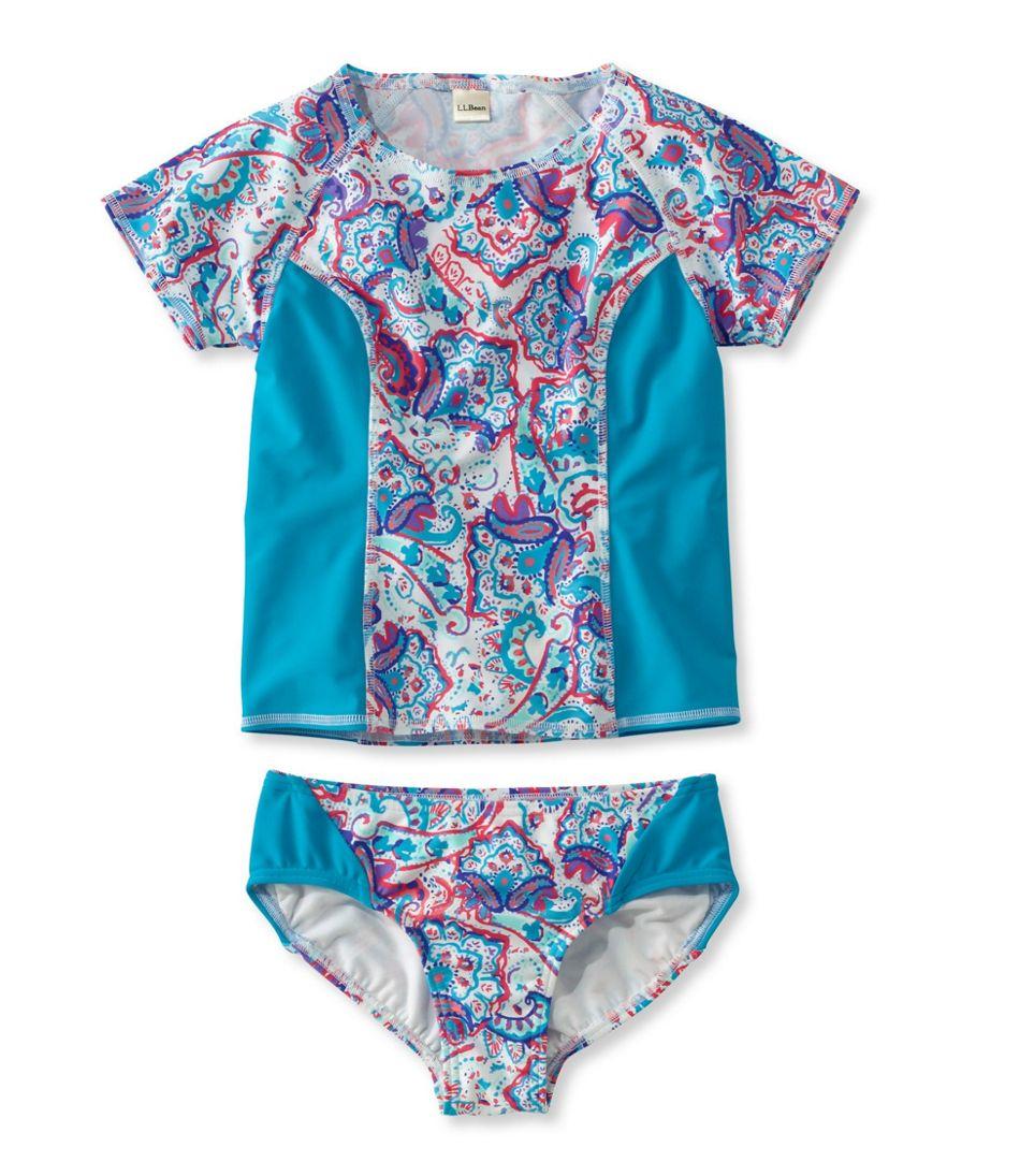 Girls' BeanSport Rashguard Bikini, Print