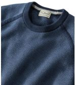 Cotton/Coolmax Performance Crewneck Sweater, Slightly Fitted Long-Sleeve